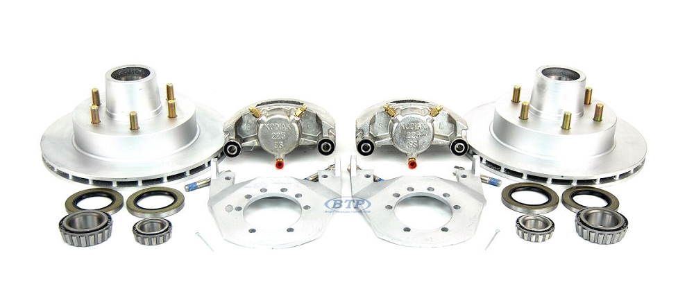 kodiak boat trailer integral disc brake kit 6 lug dacromet