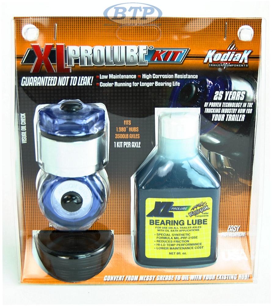 Kodiak XL Pro Lube Oil Bath Kit 1.98 Size for 5 Lug 3.5K Hubs