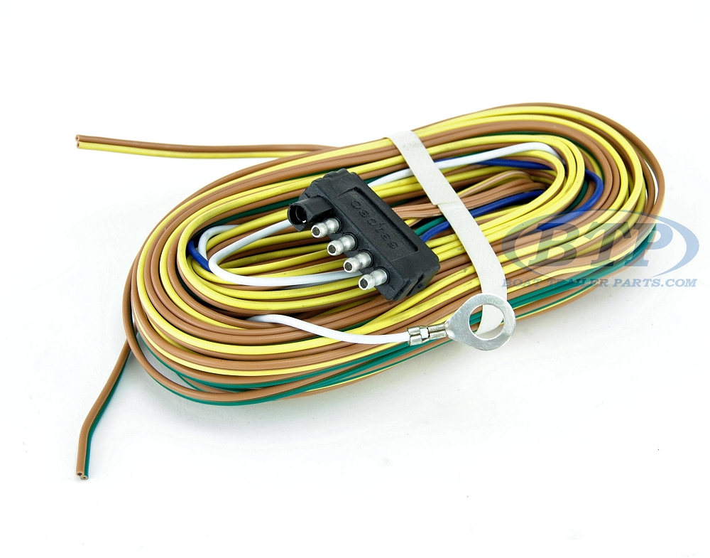 Trailer Wiring Harness For Surge Brakes : Trailer wiring harness flat ft for adding disc brakes