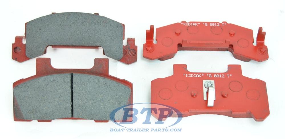 KODIAK 10 in 12 in Disc Brake Caliper Pads Ceramic