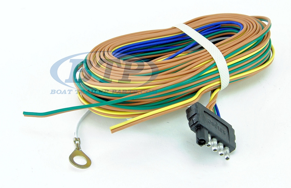 Trailer wiring harness 5 flat 35ft for adding disc brakes to trailer cheapraybanclubmaster Image collections