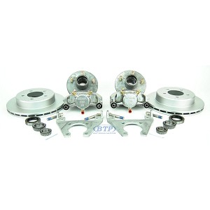 Kodiak Trailer Slip On Disc Brake Kit w/ SS Calipers, 5 Lug Galv Hubs