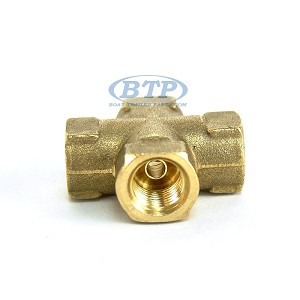 Trailer Hydraulic Brake Hose Cross Fitting Female Inverted Flare