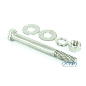 1/2 inch Diameter by 4 1/2 inch Long Stainless Steel Bolt