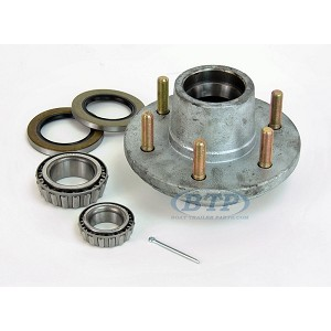 Galvanized Trailer Hub 6 Lug fits 5200-6000 lb. Axles with Bearings