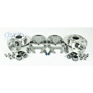 Kodiak Trailer Slip On 5 Lug Disc Brake Kit ALL STAINLESS w/ SS Hubs